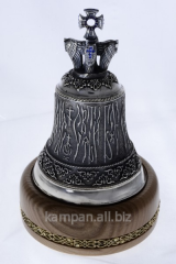 Hand bell the Angelic hymn, bronze with silvering