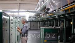 Plant for production of continuous basalt fiber
