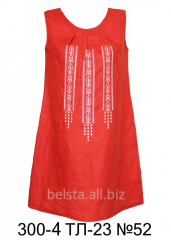 Sleeveless linen dress of Belst 300/4