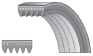 Poliklinovy belts / Belts of a periodic profile