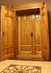 Натуральные деревянные двери с подсветкой Neon