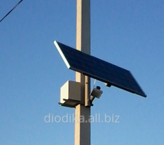 Independent LED Street Light 30W LED with solar