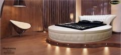 Bed leather round Madonna