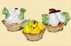Пирожное Корзиночка з білковим кремом