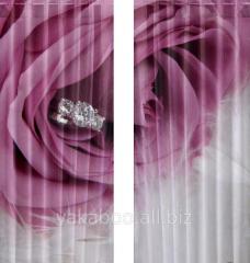 Фотошторы MSG Collection Камень в цветке 280х250