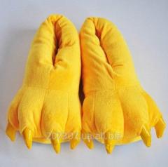Yellow house warm slippers of a pad of a kiguruma
