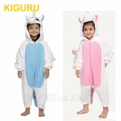 Детская пижама единорог теплая фланель
