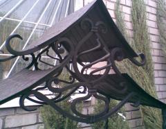 Peaks decorative metal in Zaporizhia, Ukraine. We