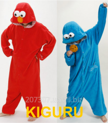 Cookie Monster kiguruma suit red and blue
