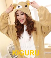 Kiguruma pajamas from a flannel Teddie's bear