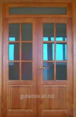 Двери межкомнатные двойные со стеклом