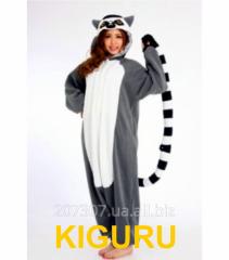 Kigurumi a lemur a pajamas in the form of animals
