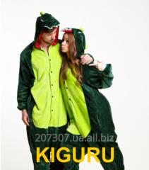 Kiguruma suit for a snowboard the Dinosaur