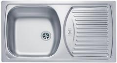 Кухонная мойка Alveus Basic 150 (780x435x150) чаша матовая, крыло полированное (1037766 SAT)
