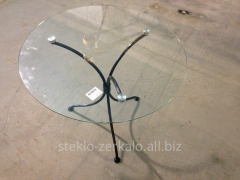 Tables and table-tops from glass
