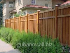 Забор для дачи деревянный
