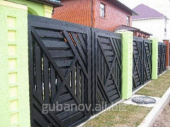 Забор деревянный
