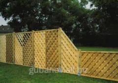 Забор секционный деревянный