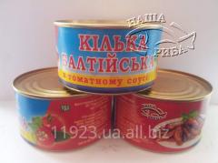 Sprat Baltic in tomato sauce. K_lka Balt_yska in