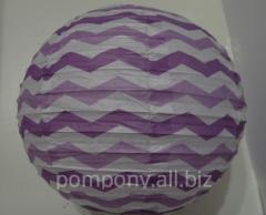 The sphere decorative a strip, diameter is 20 cm