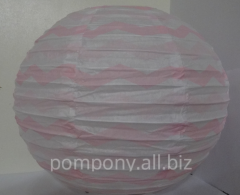 Шар декоративный полоска, диаметр 20 см, вариант 7