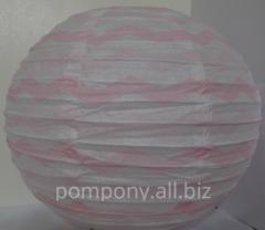 The sphere decorative a strip, diameter is 25 cm,