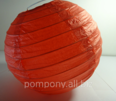 The sphere is decorative, red, diameter is 15 cm,