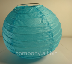 The sphere is decorative, blue, diameter is 15 cm,