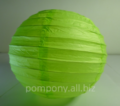 The sphere is decorative, lime, diameter is 15 cm,