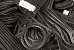 Rubber consolidations from the materials NBR,