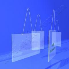 Бейджик пластмассовый на шнурке 03-06