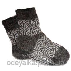 Вязаные носки из овечьей шерсти