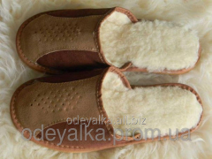 Slippers are female winter