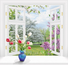 """Photowall-paper """"Behind a window"""