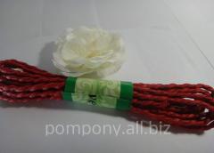 Raffia rope, 2 meters, Red
