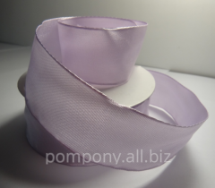 Tape decorative with wire edge, color gentle-lilac
