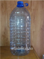 Bottle of PET, 10 l. Blown retail container