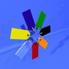 Номерки из цветного акрила 07-31