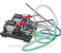 Installation for putting liquid HVLP 2KE rubber