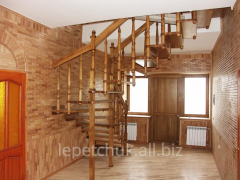 Stairs from wood (straight, rotary, sinuous and