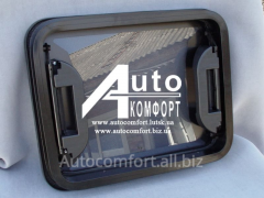 The hatch automobile glass 40х50 with emergency