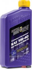 Motor car Royal Purple API 5w-40 oil packing