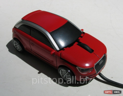 Mouse computer wire Audi A1 red mouse-Audi-a1 -