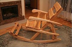Кресла-качалки из натурального дерева. Кресла-