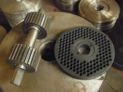 Production of matrixes and rollers (etc. spare
