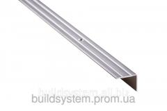 Пороги алюминиевые 3А 0,9 метра серебро 23х18мм