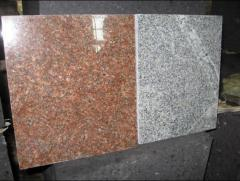 Plates facing of granite