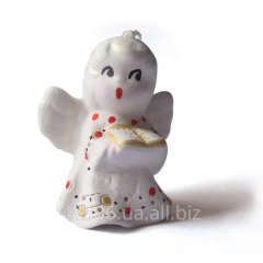Figurine ceramic Hand bell angel average C057