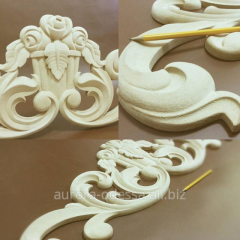 Wooden overlays for furniture, decorative products