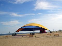 Концертно-танцевальная площадка диаметром 25м и высотой 6м